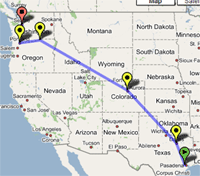 Package tracking with Google Maps